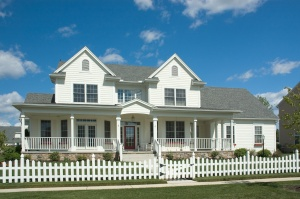 New home built in the tradition of the Colonial style with a country feel.